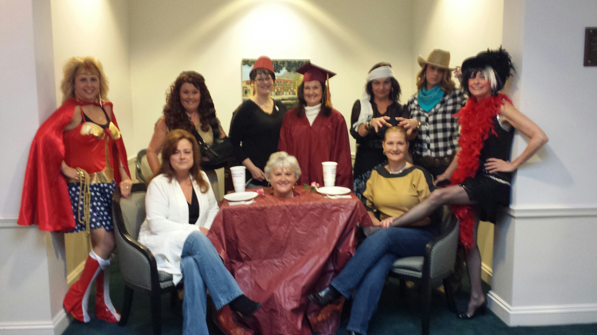 BSE Staff dressed up for halloween